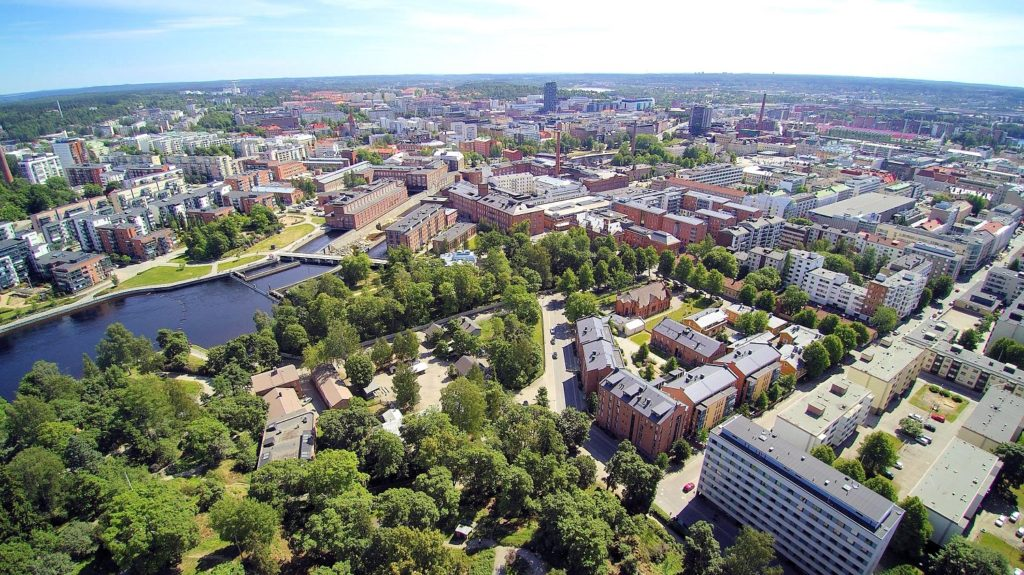 Tampere from air